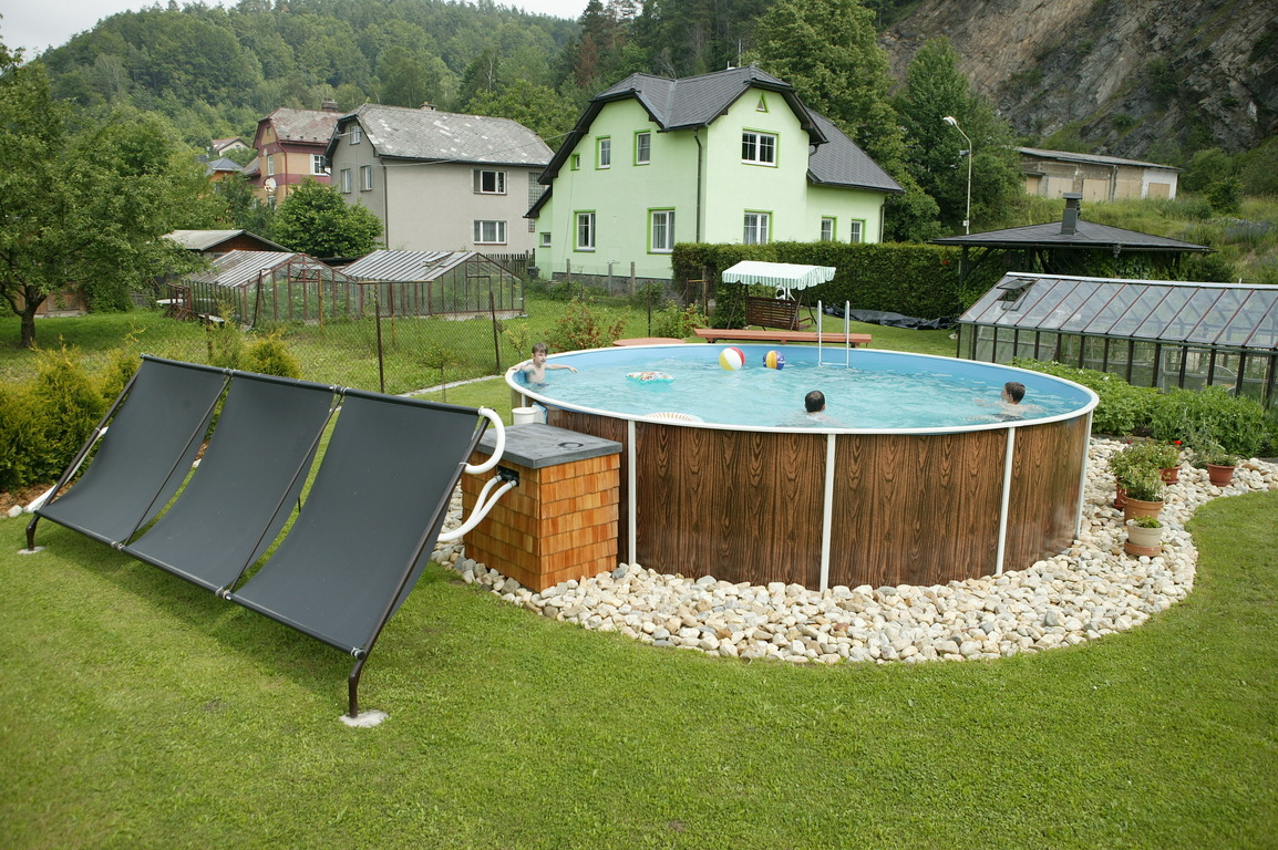 Hors sol acier aquastar piscines - Amenagement piscine hors sol photo besancon ...